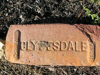 OLD VTG antique Brick reclaimed Stamped CLYDESDALE
