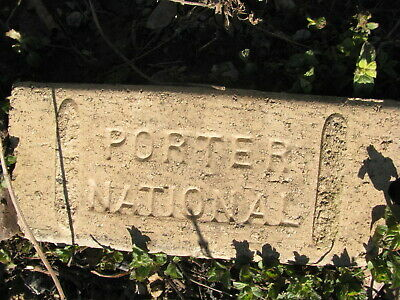 OLD VTG antique Brick reclaimed Stamped PORTER NATIONAL