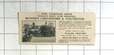 1935 7 Bedroom House, Half An Acre Between Chelmsford And Colchester, £1150