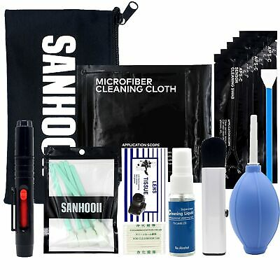SANHOOII Camera Cleaning Kit for DSLR Cameras Sensor Cleaning and Lens Cl... New