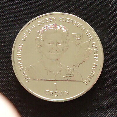 1995 Isle of Man 1 Crown coin Queen Mother 95th Birthday