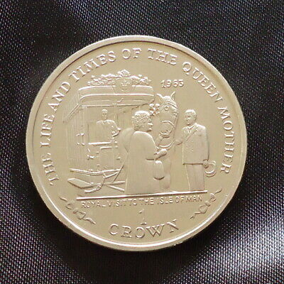 2000 Isle of Man 1 Crown coin Life Times Queen Mother Royal Visit