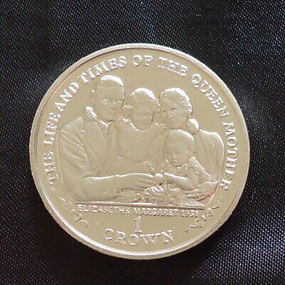 2000 Isle of Man 1 Crown coin Life Times Queen Mother Elizabeth & Margaret