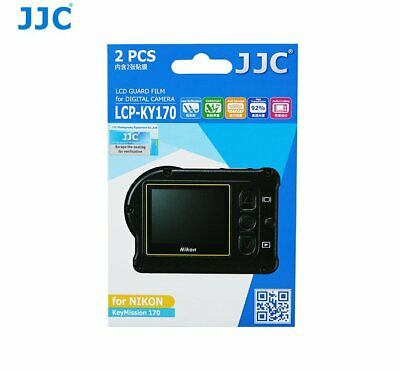 JJC LCPKY170 LCD Screen Protector Protection Guard Film for Nikon KeyMission 170