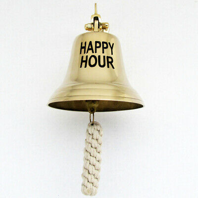 vintage ships marine nautical ship SHIP'S Solid Brass HAPPY HOUR Tiki BAR BELL