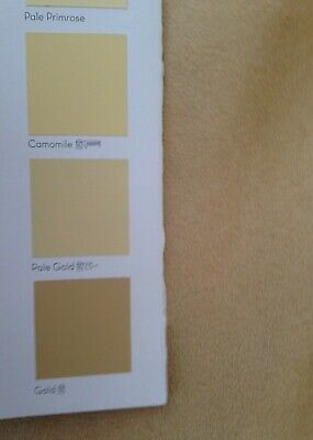 3 metres Faux Suede Suedette Moleskin Curtain And Interior Fabric Pale Gold