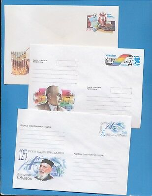 UKRAINE - six postal stationery covers from 2000    --  two scans