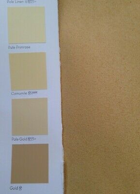 5 metres Faux Suede Suedette Moleskin Curtain And Interior Fabric In Gold