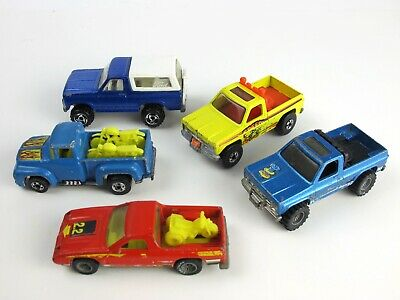 HOT WHEELS Real Riders BW FORD Bronco CHEVY Blazer DODGE Rampage PICK-UP gyg