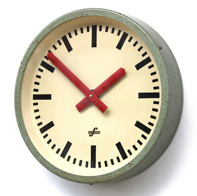 EAST GERMAN1950s Midcentury Factory Retro Vintage Industrial Wall Clock