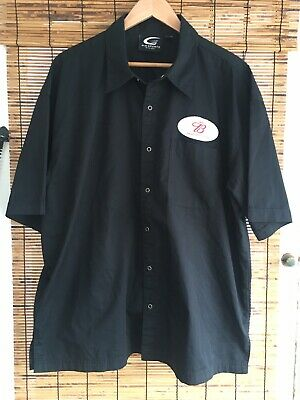 8247f3dc Mens Xl Black Budweiser Fresh Button Down Casual Shirt Metal Snaps Patch  Deliver