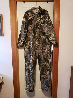fc9b656529ca6 New Large Mens Mossy Oak Coveralls Uninsulated Camouflage Hunting Work