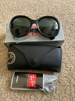 3dab38434a NEW Ray-Ban RB4191 601 71 Black   Classic Green Oversize Sunglasses 57mm