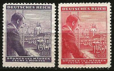 Germany Third Reich 1943 Bohemia/Moravia MNH - Hitler's 54th Birthday