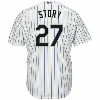 4905471da4f Trevor Story Colorado Rockies Majestic Mens Cool Base Home White Jersey XL