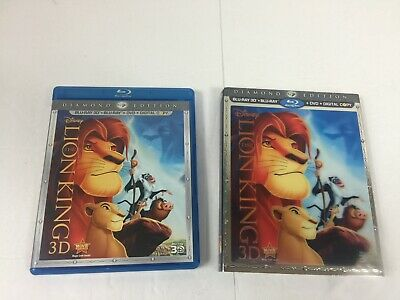 Disney The Lion King 3D Disc + Case + Slipcover Only No Blu-ray DVD or Digital