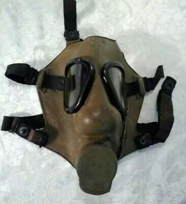 Vintage green US Military Gas Mask