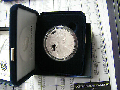 2017-W PROOF SILVER EAGLE COIN W/ OGP   #zf
