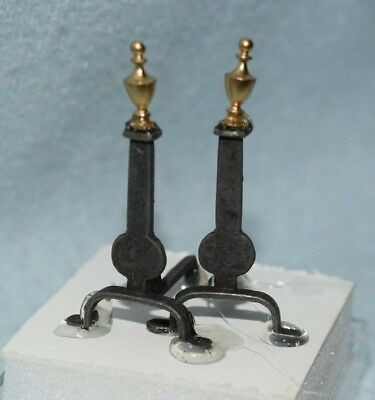 Colonial Andirons-Dollhouse Miniature