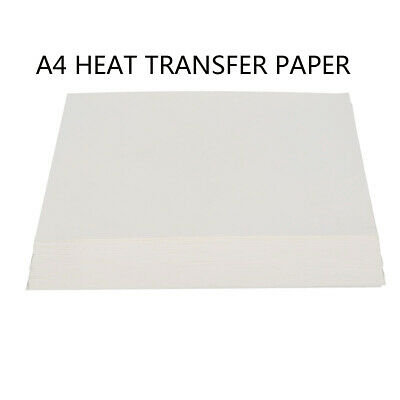 100 pcs A4 Inkjet Print Heat Transfer Sublimation Paper DIY Craft shirt