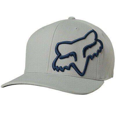 Fox Racing Men's Clouded Flexfit Hat Htr Gray Headwear Baseball Cap