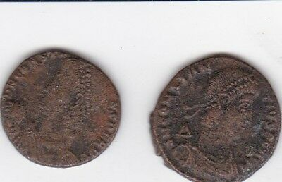 Pair of Roman Constantine Ancient coin