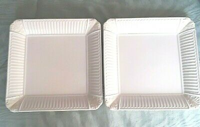 """2 Lenox Butler's Pantry Square Luncheon plates approx 9 1/8"""""""