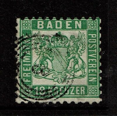 Baden SC# 24, Used, (Noted as Mi# 21a), expert mark on back - S4188