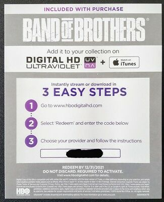 HBO Band of Brothers HD Digital Code Only GOOGLE PLAY **PLEASE SEE DESCRIPTION**