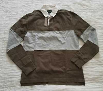 74ed8b4c8a0 New Men's Mt Lt J Crew 1984 Pieced Rugby Longsleeve Polo Shirt In Loden  Green