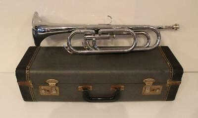 Vintage Getzen Deluxe American Champion Bugle w/ Case Serial # 73568 Made in USA