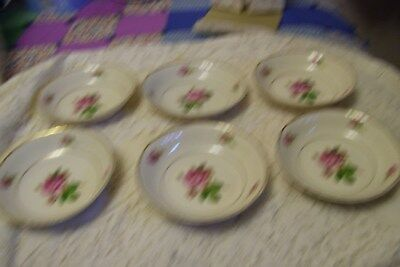 Syracuse China Berry Bowls Federal Shape Victoria Rose lot of 6