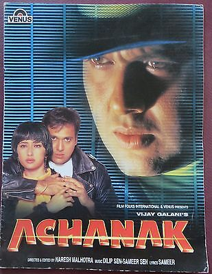 PressBook Bollywood Promotional Song Book Pictorial Achanak 1998