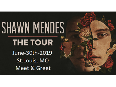 SHAWN MENDES MEET & Greet Gold Concert Tickets - ST  Louis, MO -  JUNE-30-2019