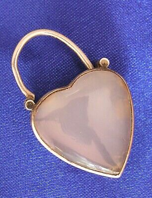 Victorian Scottish Agate Clasp Or Locket Sterling  Antique For Hair Or Photo