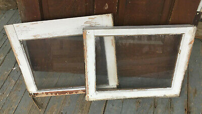 Wood Frame Windows Single Pane 20 x 16 (2 QTY) vintage wooden sash picture glass