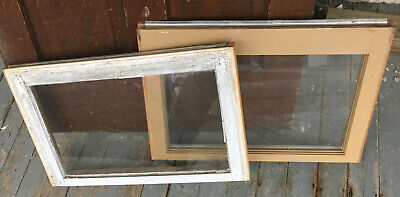 Wood Frame Windows Single Pane 24 x 16 (4 QTY) vintage wooden sash picture glass