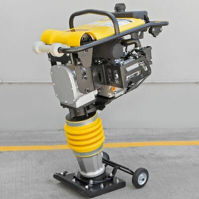 196CC 6.5HP Gas Power Soil Rammer Jumping Jack Tamper Tamping Ram Compactor