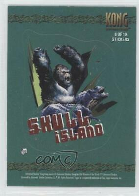 2005 Topps Kong The 8th Wonder of the World Stickers #8 Skull Island Card 0b6