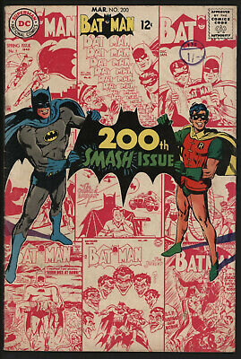 Batman #200 Mar 1968. Classic Neal Adams Cover. White Pages