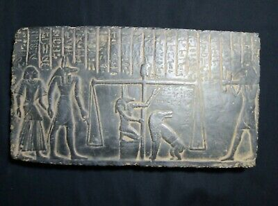 RARE ANCIENT EGYPTIAN ANTIQUE Afterlife Judgement Stela Relief 1280-1253 Bce