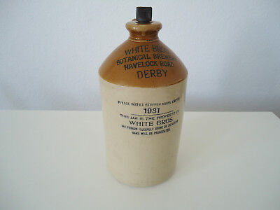 WHITE BROS. JAR BOTTLE von 1931 Botanical Brewery mit Stopper