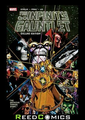 INFINITY GAUNTLET DELUXE EDITION GRAPHIC NOVEL Paperback Collects 6 Part Series