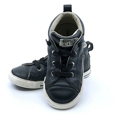 48bfbb5c265b Converse Chuck Taylor All Star Street Kids Toddler Mid Leather Sneaker
