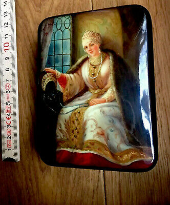 Russische Lackdose, russian lacquer Box, Fedoskino 2003