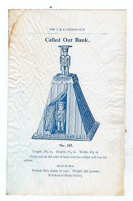 """""""called Out"""" Mechanical Bank*page From J & E Stevens Co Catalog*soldier"""