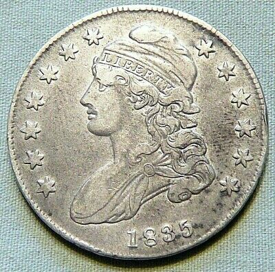 1835 Capped Bust United States Silver Half Dollar - Very Fine -  Item 432
