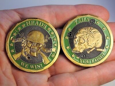 Heads We Win, Tails You Lose. Marine Corps Challenge Coin USMC Collectible Coin