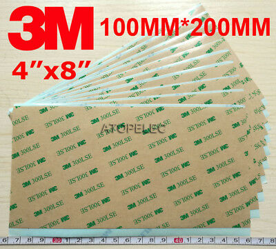 3M 300LSE Double Sided SUPER STICKY HEAVY DUTY SHEET of Adhesive Tape 100*200mm