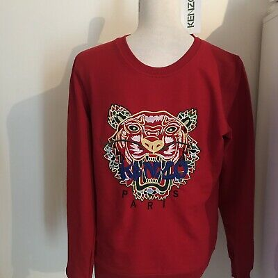 PULL SWEAT ROUGE Taille S Kenzo Neuf Avec Etiquette - EUR 26,00 ... ed89f82f9fb